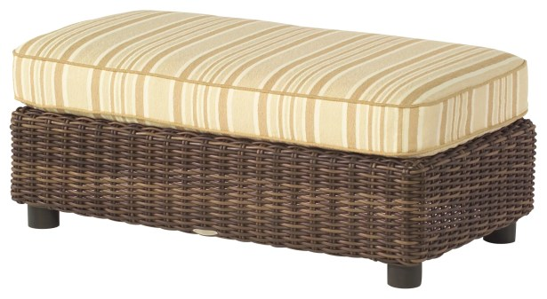 Sonoma Half Ottoman with Cushion Fabric: Brisa Distressed Chamois
