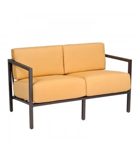 Salona Loveseat with Cushions Fabric: Canvas Chestnut
