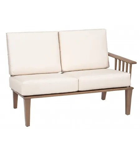 Van Dyke Right Arm Facing Loveseat Sectional Piece with Cushions Fabric: Axel Smoke