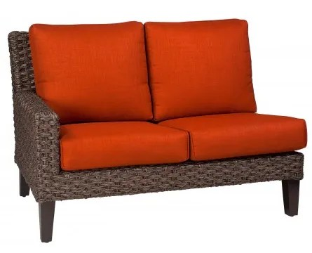 Mona Left Arm Facing Loveseat Sectional Piece with Cushions Fabric: Summit Spark