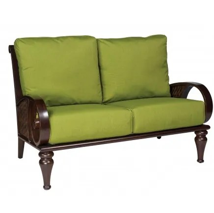 North Shore Loveseat with Cushions Fabric: Canvas Parrot
