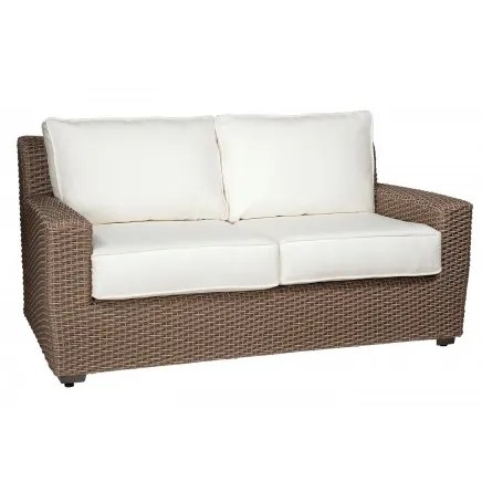 Augusta Loveseat with Cushions Fabric: Canvas Heather Beige