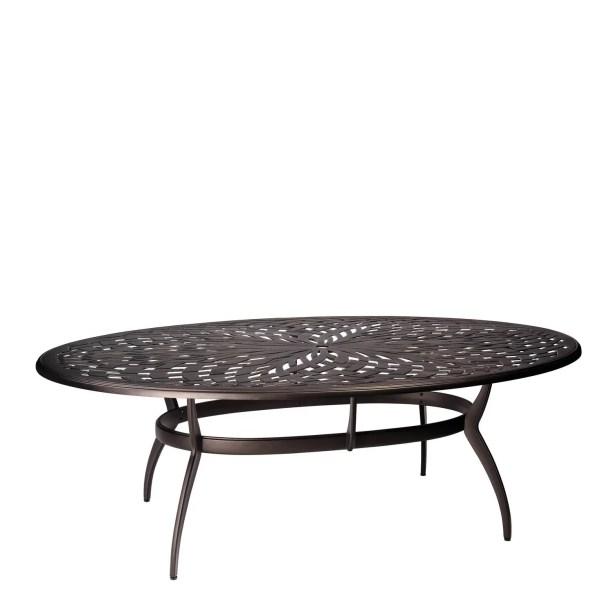 Apollo Oval Umbrella Dining Table Frame Color: Chestnut Brown