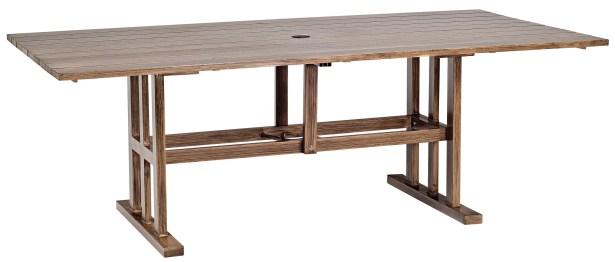 Woodlands Rectangular Aluminum Umbrella Table Frame Color: Pewter Finish