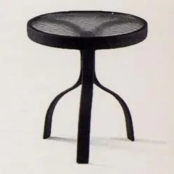 Deluxe Obscure Glass Occasional Aluminum SideTable Finish: Pecan