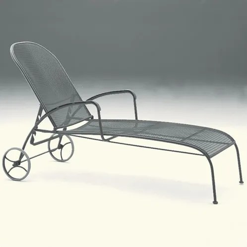 Valencia Reclining Chaise Lounge Finish: Textured Black