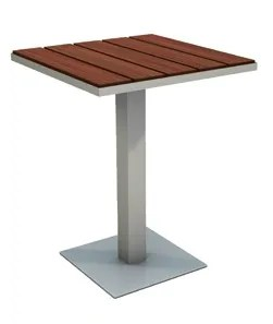 Etra Stainless Steel Coffee Table Top Finish: Ipe, Table Size: 29