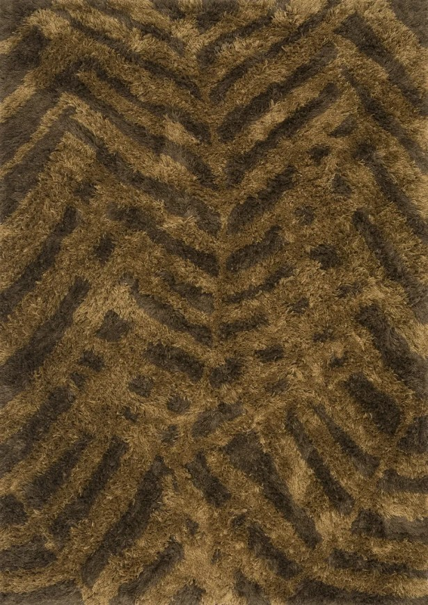 Shupe Hand-Tufted Brown Indoor/Outdoor Area Rug Rug Size: Rectangle 5' x 7'6