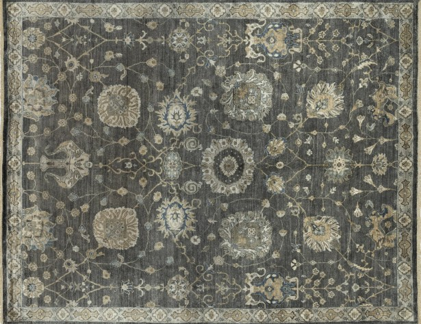 Kehoe Hand-Knotted Gray Area Rug Rug Size: Rectangle 12' x 18'