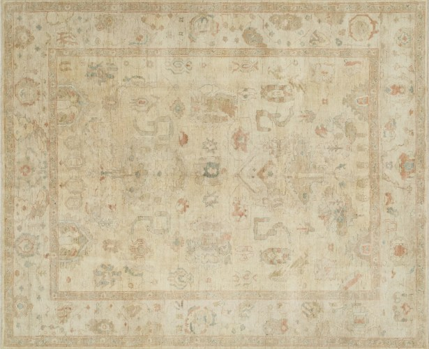 Abelard Hand-Knotted Beige Area Rug Rug Size: Rectangle 13' x 19'