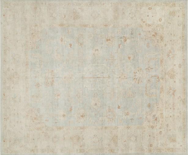 Abelard Hand-Knotted Mist/Stone Area Rug Rug Size: Rectangle 2' x 3'