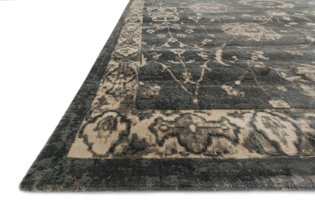 Keever Charcoal/Beige Area Rug Rug Size: Rectangle 7'6