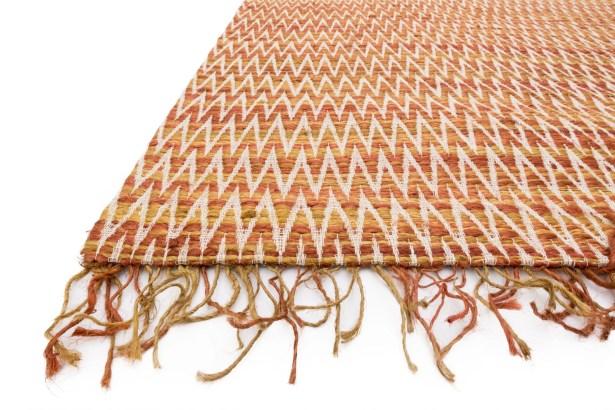 Faraci Hand-Woven Orange Area Rug Rug Size: Rectangle 9'3