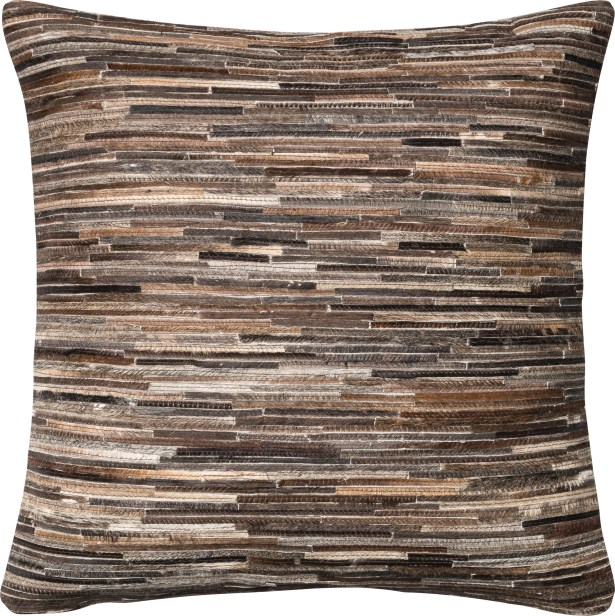 Faherty Throw Pillow Cover Color: Brown
