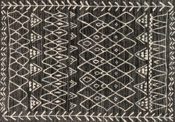 Aparicio Black/Ivory Area Rug Rug Size: Rectangle 2'5