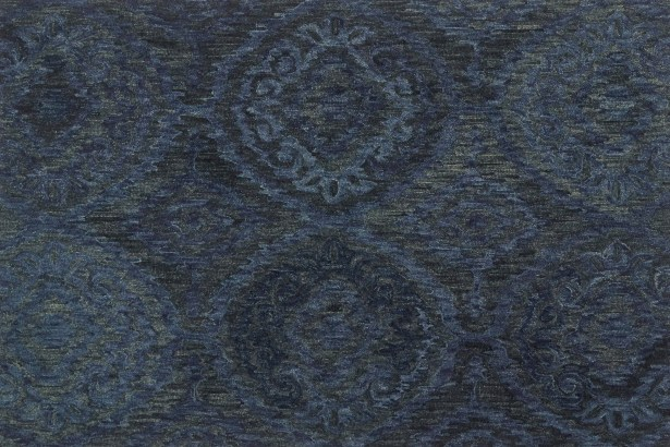 Cherrelle Hand-Hooked Wool Navy Area Rug Rug Size: Rectangle 5' x 7'6