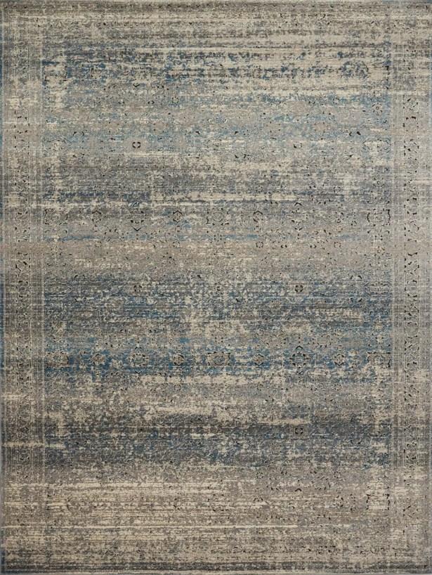 Diez Gray/Blue Area Rug Rug Size: Rectangle 3'7