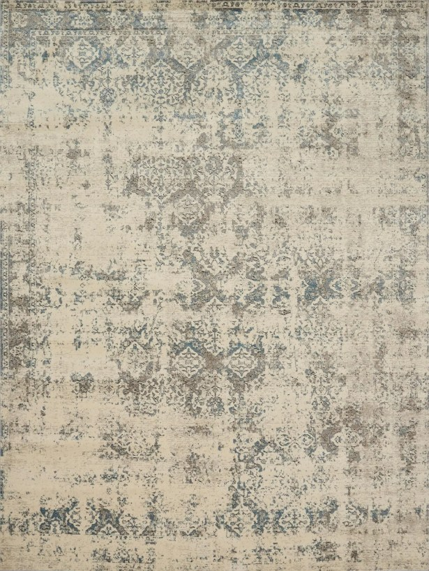 Diez Ivory/Gray Area Rug Rug Size: Rectangle 7'10