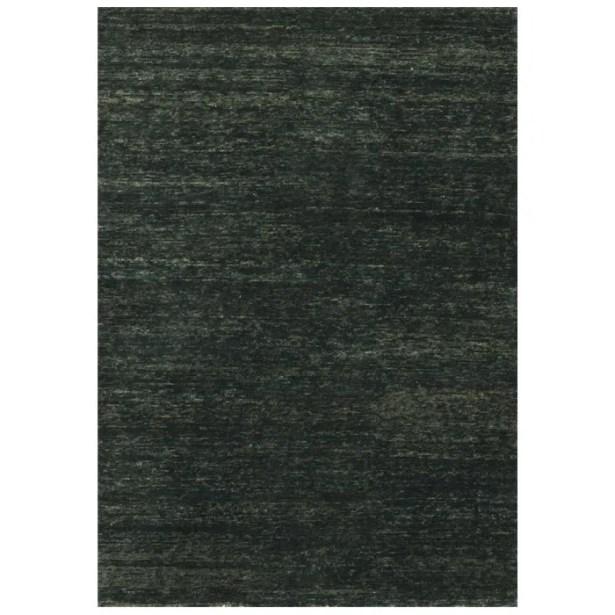 Avey Hand-Knotted Ebony Area Rug Rug Size: Rectangle 5'6