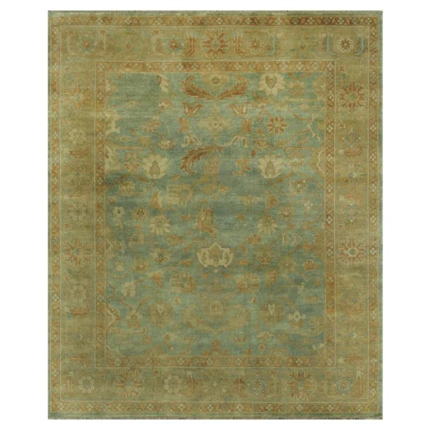 Brentwood Sea/Gold Area Rug Rug Size: 9'6