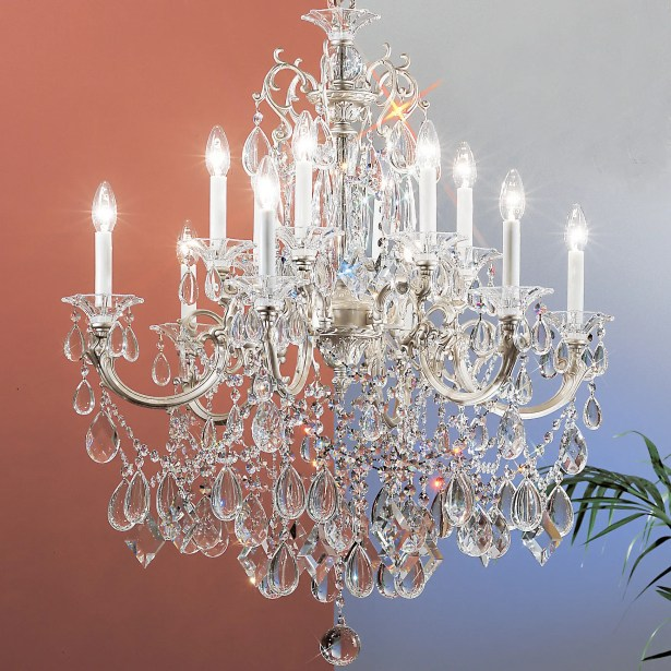 Via Venteo 12-Light Candle Style Chandelier Finish: Silverstone, Crystal Type: Swarovski Spectra Crystal
