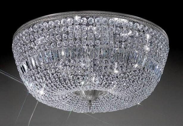 Genevieve 12-Light Semi-Flush Mount Crystal Type: Italian, Finish: Olde World Bronze
