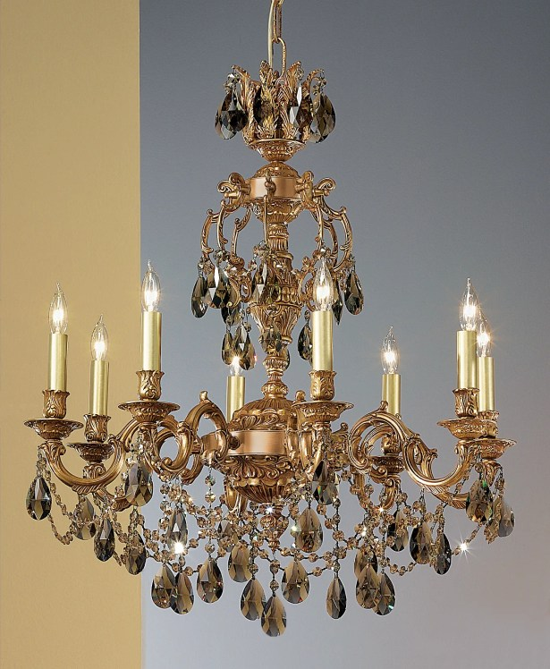 Chateau Imperial 8-Light Candle Style Chandelier Crystal Type: Crystalique-Plus, Finish: French Gold