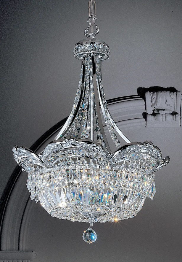 Emily 6-Light Crystal Chandelier Crystal Type: Crystalique-Plus, Finish: Roman Bronze