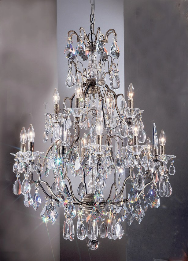 Garden of Versailles 13-Light Candle Style Chandelier Finish: Antique Bronze with Gold Patina, Crystal Type: Grapes Ametyst