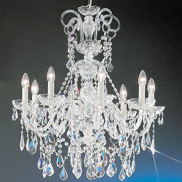 Bohemia 8-Light Candle Style Chandelier Finish: Chrome, Crystal Type: Swarovski Elements