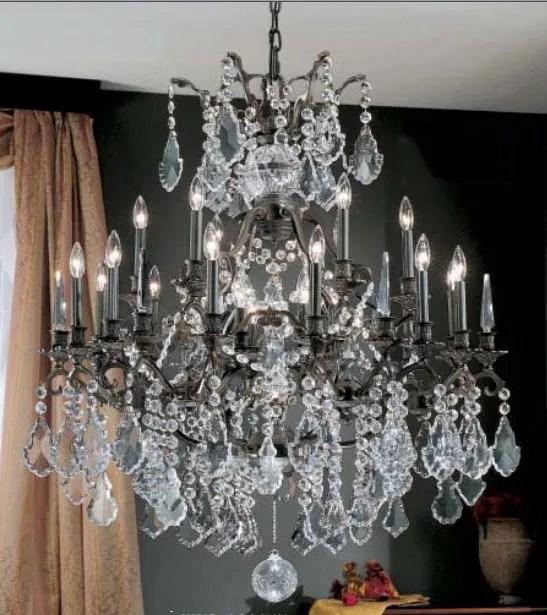 Versailles 25-Light Candle Style Chandelier Crystal Type: Swarovski Spectra