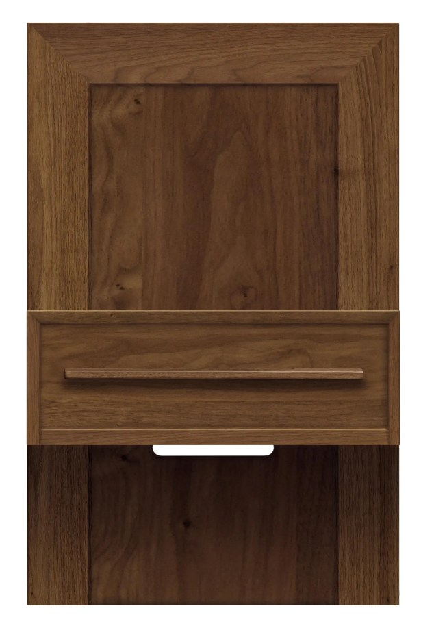 Moduluxe 1 Drawer Nightstand Color: Slate Maple, Size: 35
