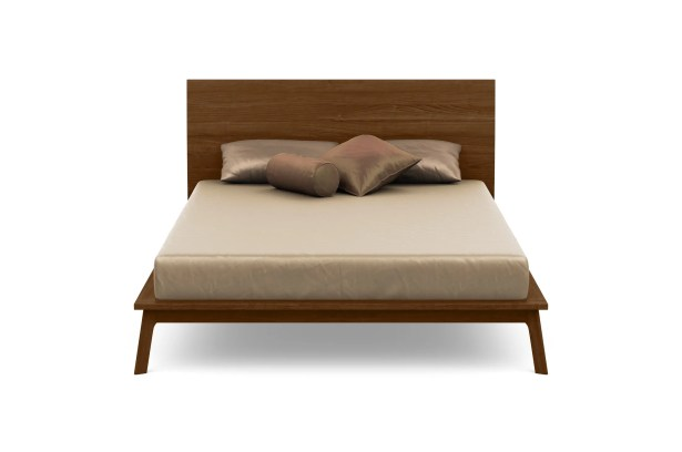Catalina Platform Bed Color: Natural Walnut, Size: Queen, Headboard Height: 40