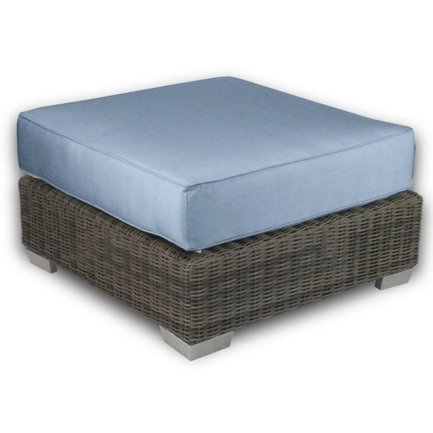 Palisades Ottoman with Cushion Fabric: Sailor