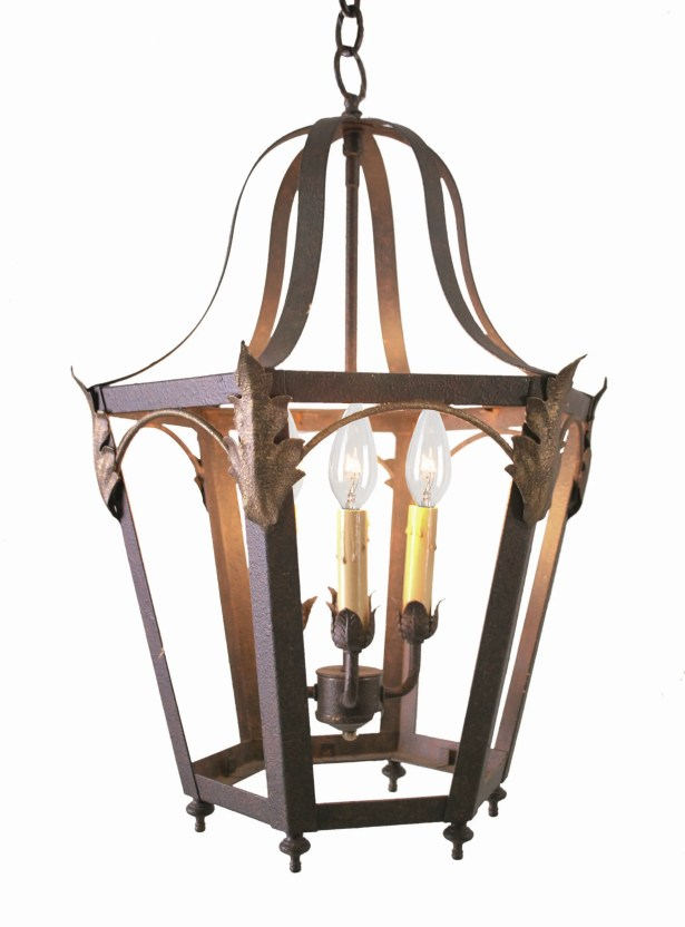 Acacia 4-Light Pendant Finish: Antique Rust, Acrylic: Silver Mica