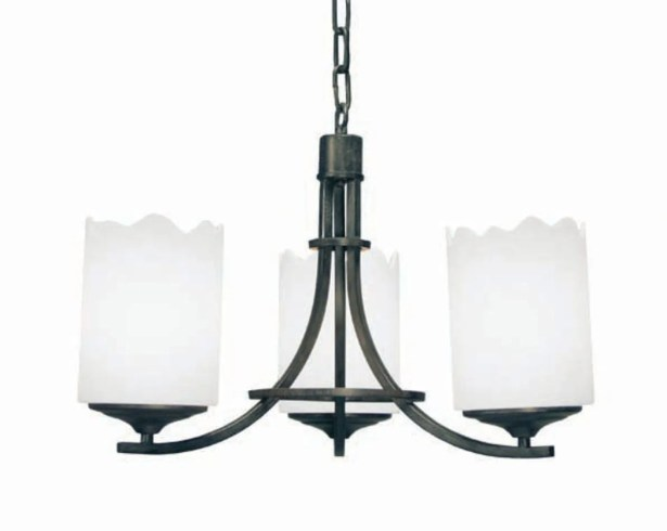 Octavia 3-Light Shaded Chandelier Finish: Coffee Bean