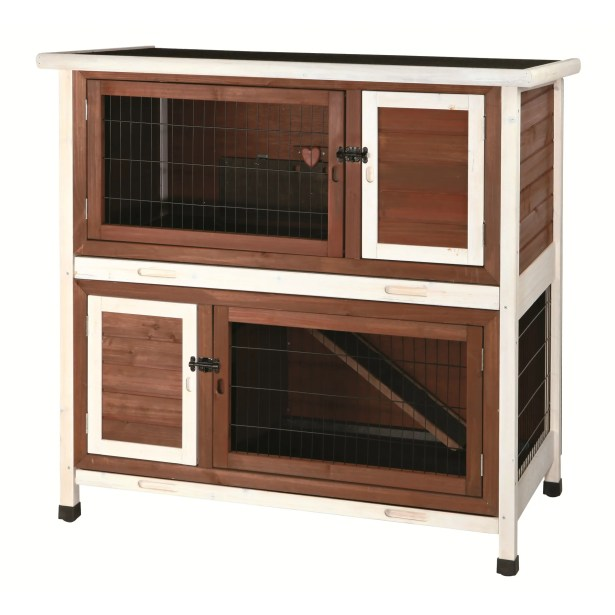 2 Story Small Animal Hutch Color: Brown / White