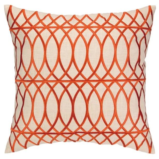 Regina Throw Pillow Color: Orange