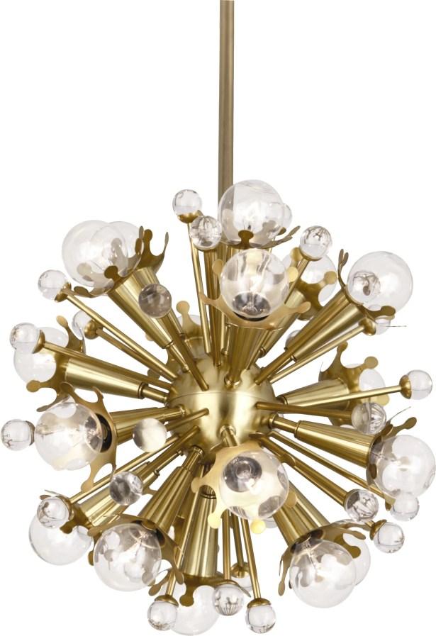 Sputnik 18-Light Sputnik Chandelier Finish: Antique Brass