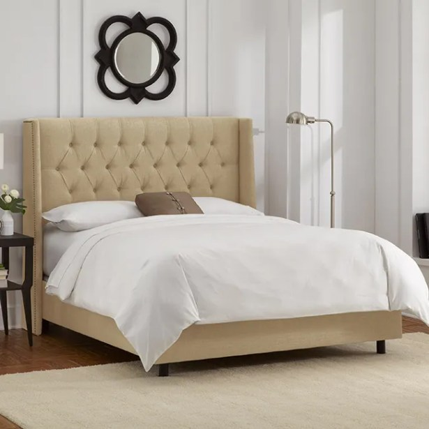 Raleigh Upholstered Panel Bed Size: Queen, Color: Sandstone