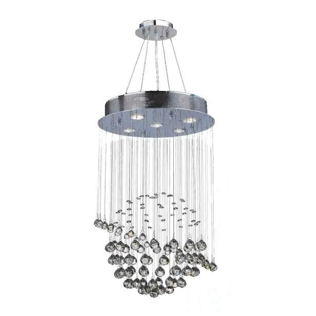 Leiker Modern 5-Light Crystal Chandelier