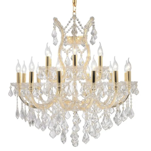Kiazolu Glam 19-Light Candle Style Chandelier Color: Gold