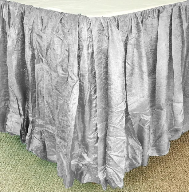 Balloon Bed Skirt Color: Gray, Size: King