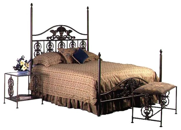 Four Poster Bed Size: King, Color: Ivory