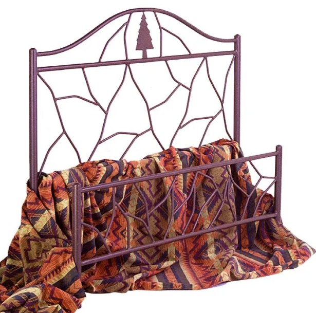 Panel Bed Color: Aged Iron, Size: Twin