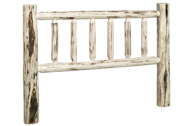 Abordale Log Slat Headboard Color: Lacquered, Size: Twin