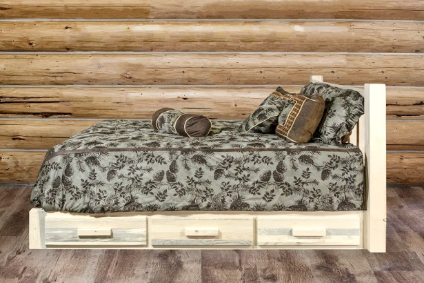 Katlyn Storage Platform Bed Size: California King, Color: Ready to Finish