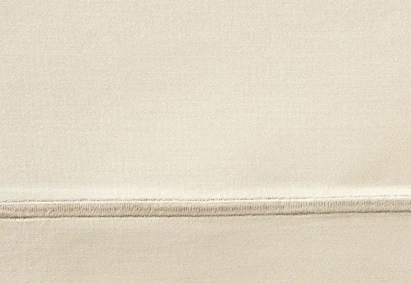 Soprano 420 Thread Count Cotton Fitted Sheet Size: Queen, Color: Linen