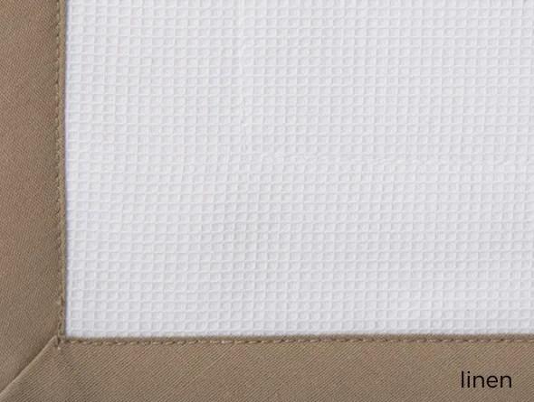Pique Cotton Bed Rest Pillow Color: Linen