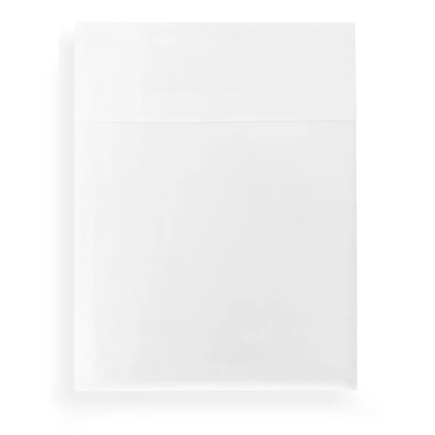 Supima Semplice 550 Thread Count Certified Cotton Flat Sheet Size: Queen, Color: White